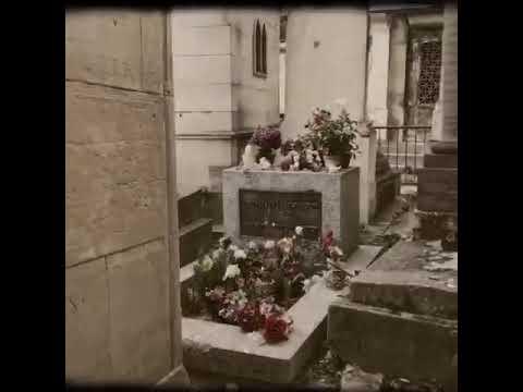 Jim Morrison's grave at Père Lachaise Cemetery