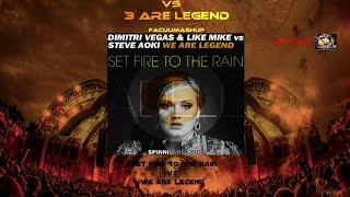 Adele vs 3 Are Legend - Set Fire To The Rain vs We Are Legend (FacüüMashup)