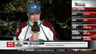 2013 NHL Entry draft. Top 3 picks. Nathan MacKinnon, Aleksander Barkov, Jonanthan Drouin. NHL Hockey