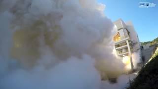 [KARI]한국형발사체 75톤급 엔진 2호기 145초 연소시험 후류부 영상 이미지