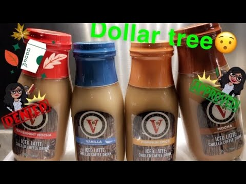 STARBUCKS FRAPPUCCINO DUPE FROM DOLLAR TREE L VICTOR ALLEN COFFEE ICED LATTE CHILLED COFFEE DRINK