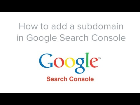How to add a subdomain to google webmaster tools