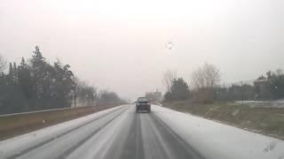 Vaucluse : il neige sur Monteux