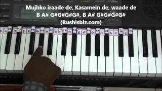 Sun Raha Hai Na Tu Piano Tutorials - Aashiqui 2 | 917013658813 - PDF NOTES/BOOK - WHATS APP US
