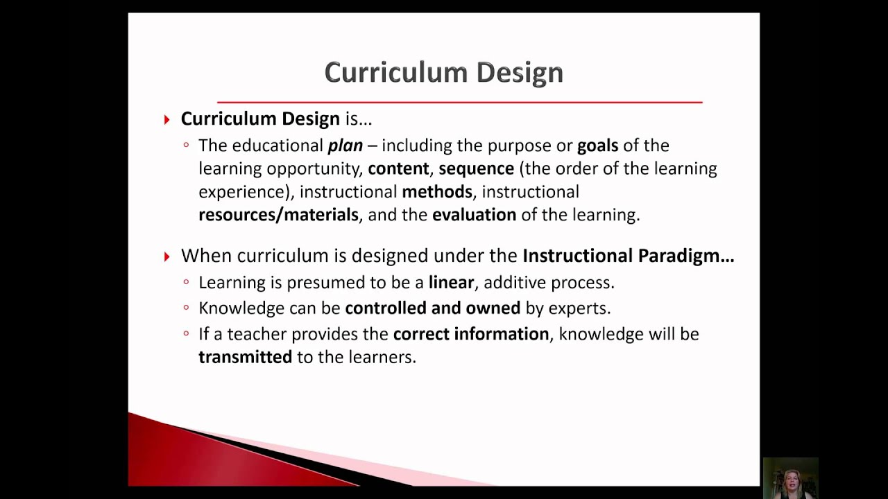 Jen Talk Curriculum Design Is All About Learning Vs Instruction Youtube