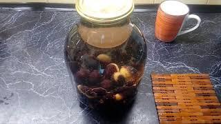 Закатываем компот из тёрна с ароматом ванили!!!