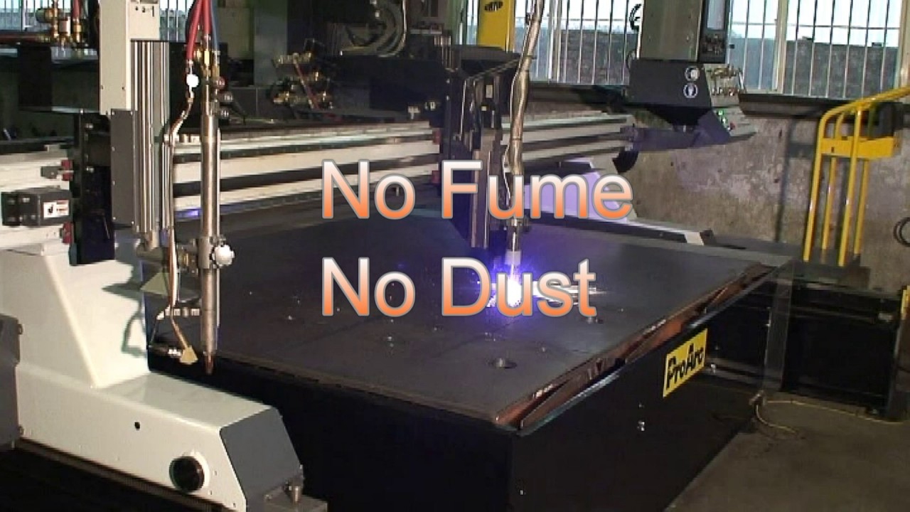 Plasma Cutting With Proarc Fume Collection System Youtube