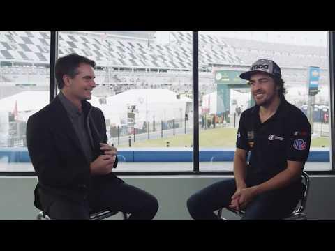 Jeff Gordon Interviews Fernando Alonso for FOX Sports - Rapid Fire Questions