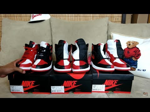 WOW JORDAN 1 HOMAGE NUMBERED VS NON NUMBERED PAIRS (WATCH BEFORE YOU BUY)