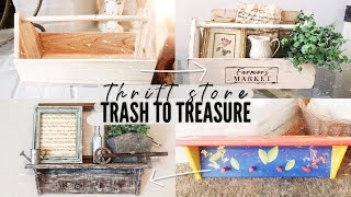 TRASH TO TREASURE PROJECTS | Farmhouse DIY's | Thrift Flip