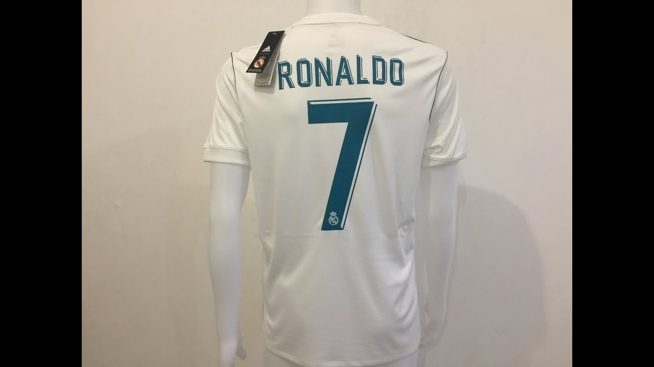 2017 18 Real Madrid Home soccer jersey Ronaldo  7 player jersey ... 2da2aed0f9fc5