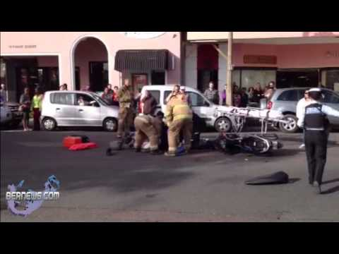 Rider Injured In Front Street Collision, Dec 20 2012