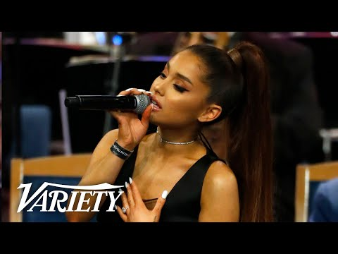"Ariana Grande Performs ""Natural Woman"" At Aretha Franklin's Funeral"