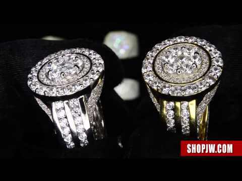 .925 Silver Simulated Diamond Mens Rings || Shopjw
