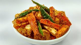 gajar mooli ka achar in hindi by indian food made easy