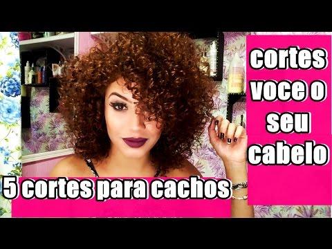 Aprenda 5 CORTES para cabelos CACHEADOS para voce CORTAR  SOZINHA  , facil e rapido