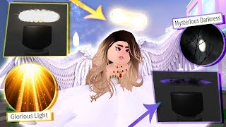 How to get GLORIOUS LIGHT & MYSTERIOUS DARKNESS badges! RAREST ROYALE HIGH ITEMS!