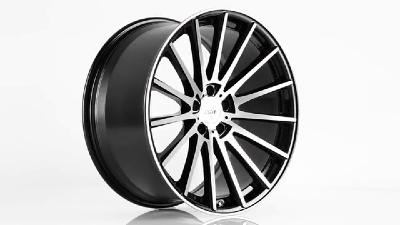 Honda Pilot Black Rims >> TSW Alloy Wheels- Chicane in Gloss Black with Mirror Cut Face - YouTube