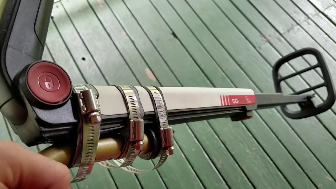 Modified Minelab Go-Find Metal Detector Upper Arm Rest Mod Fix