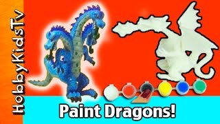 Paint Dragons! Blank Toys Arts N Crafts HobbyKidsTV