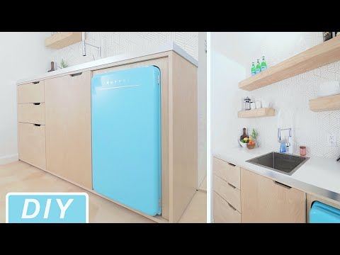DIY Modern Mini-Kitchen Build || Home Improvement