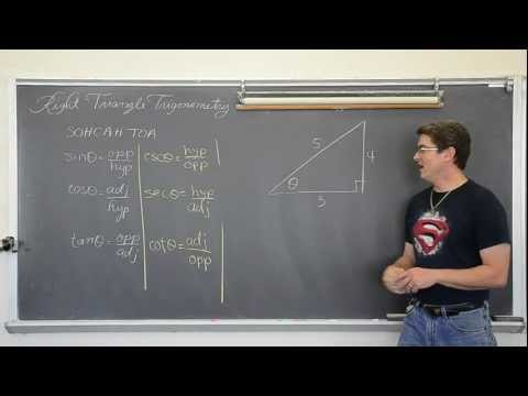 Right Triangle Trigonometry Part 1: Finding Missing Sides