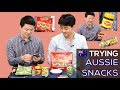 Trying Aussie Snacks / Aussie Food for the First TIme [Korean Billy]