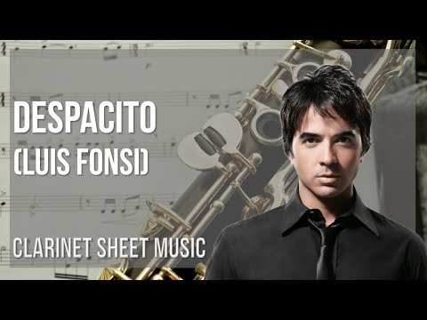 EASY Clarinet Sheet Music: How to play Despacito by Luis Fonsi
