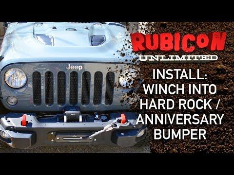 Install: Winch Into Hard Rock / Anniversary Wrangler Bumper