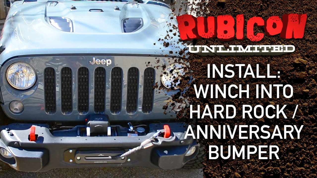 small resolution of install winch into hard rock anniversary wrangler bumper