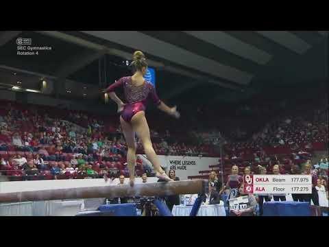 Natalie Brown Oklahoma 2018 Beam vs Alabama 9.9