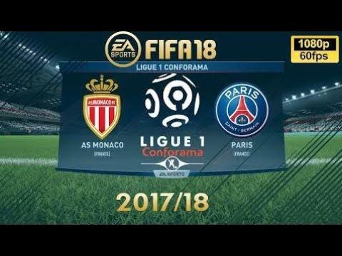 Fifa 18 As Monaco Vs Psg | Ligue 1 Conforama 2017/18 | Ps4 Full Match