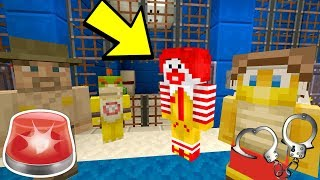 RONALD MCDONALD GOES TO JAIL! [ARRESTED!] - Nintendo Fun House - (Minecraft Switch) [198]