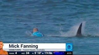 Surfista Mick Fanning é atacado por tubarão no Mundial e etapa da África