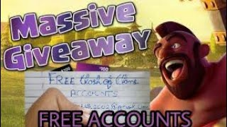 How to Get free Clash Of Clans accounts 2017 || Huge Giveaway (hindi) Huge Giveaway coc id and pass