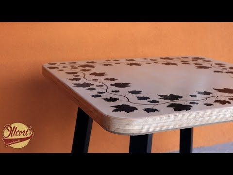 Steel and Plywood Table ( Live Edge Plywood Resin Table )
