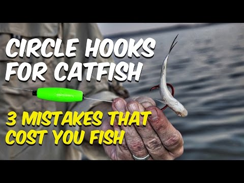 Circle Hooks For Catfish - 3 Mistakes That Cost You Fish
