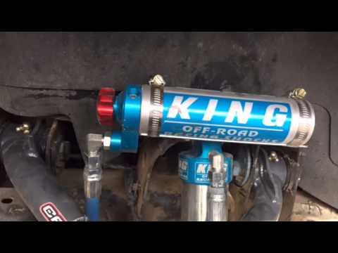 KING shocks on gmc 2500HD - YouTube