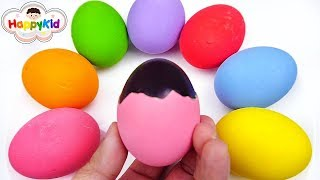 Coloring Eggs with colors | Learn Colors in Arabic
