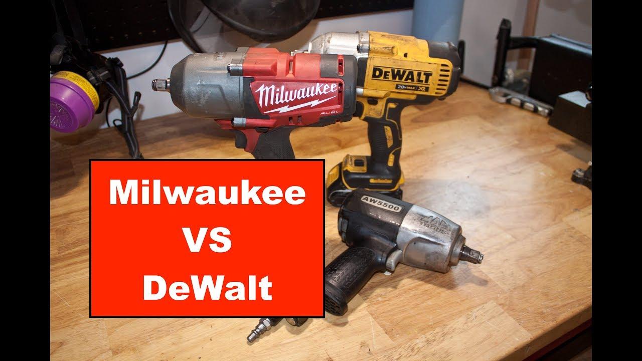 Milwaukee Vs Dewalt 1 2 Impact Review