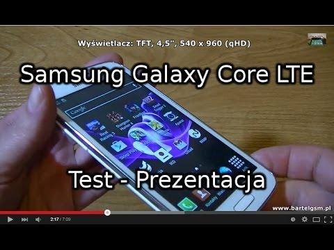 Samsung Galaxy Core Lte Test - Prezentacja