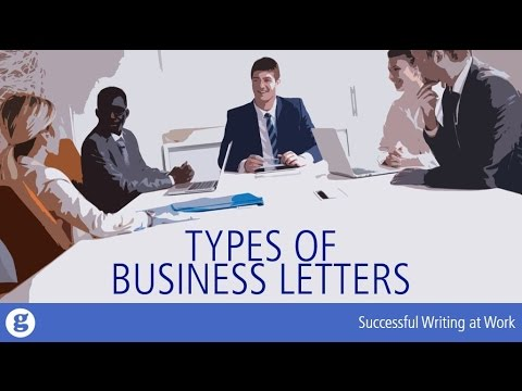 Types of Business Letters - YouTube