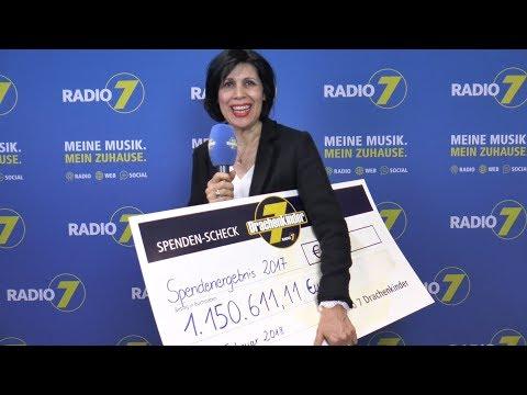 Neuer Spendenrekord: 1.150.611,11 Euro gingen 2017 für die Radio 7 Drachenkinder ein.