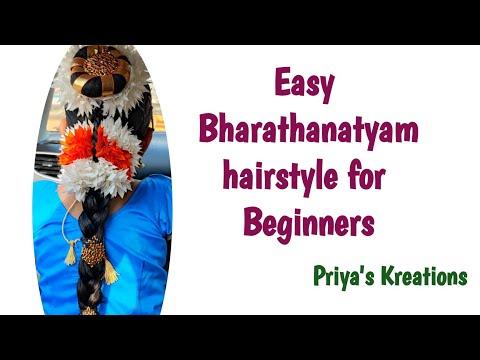 Bharathanatyam Hairstyle for