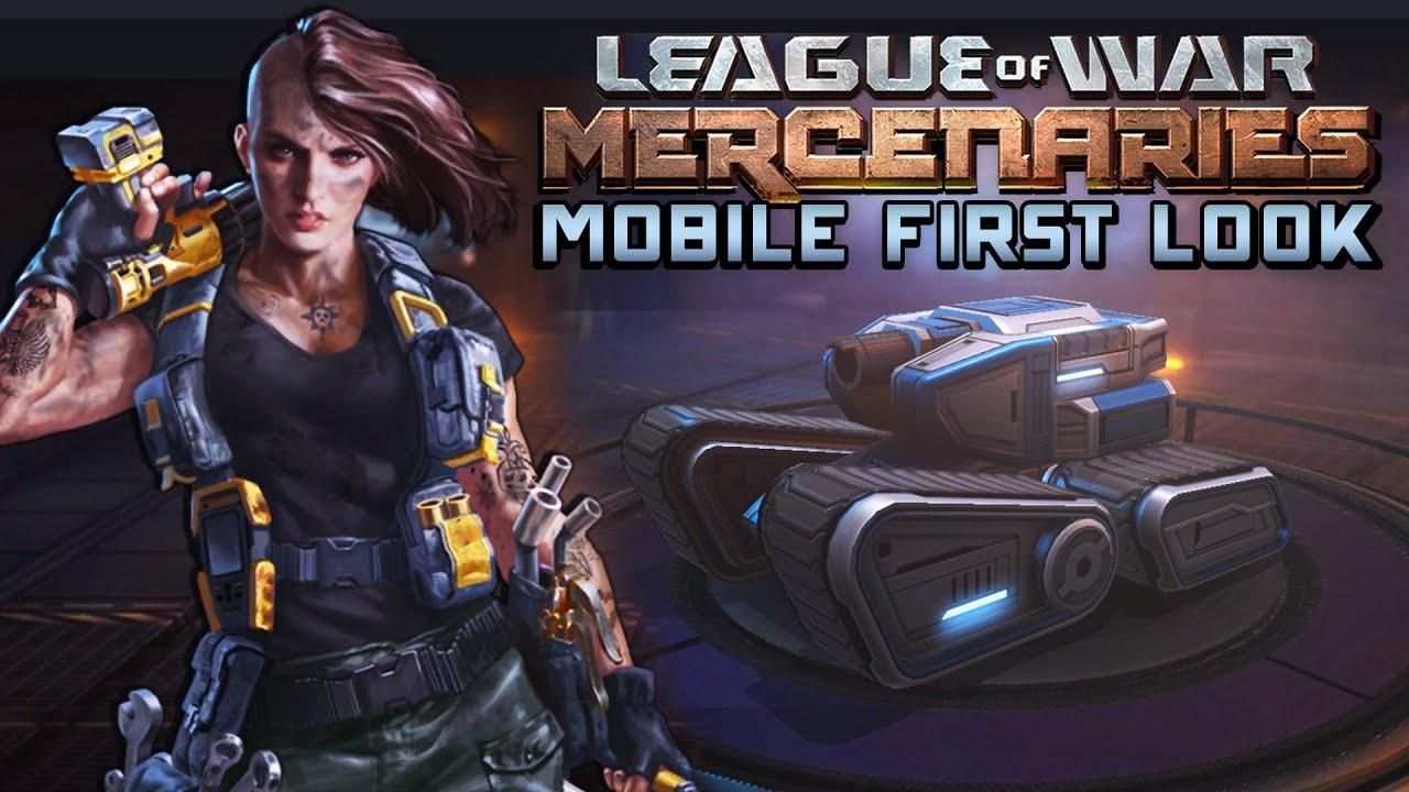 league of war mercenaries mobile first look military tower