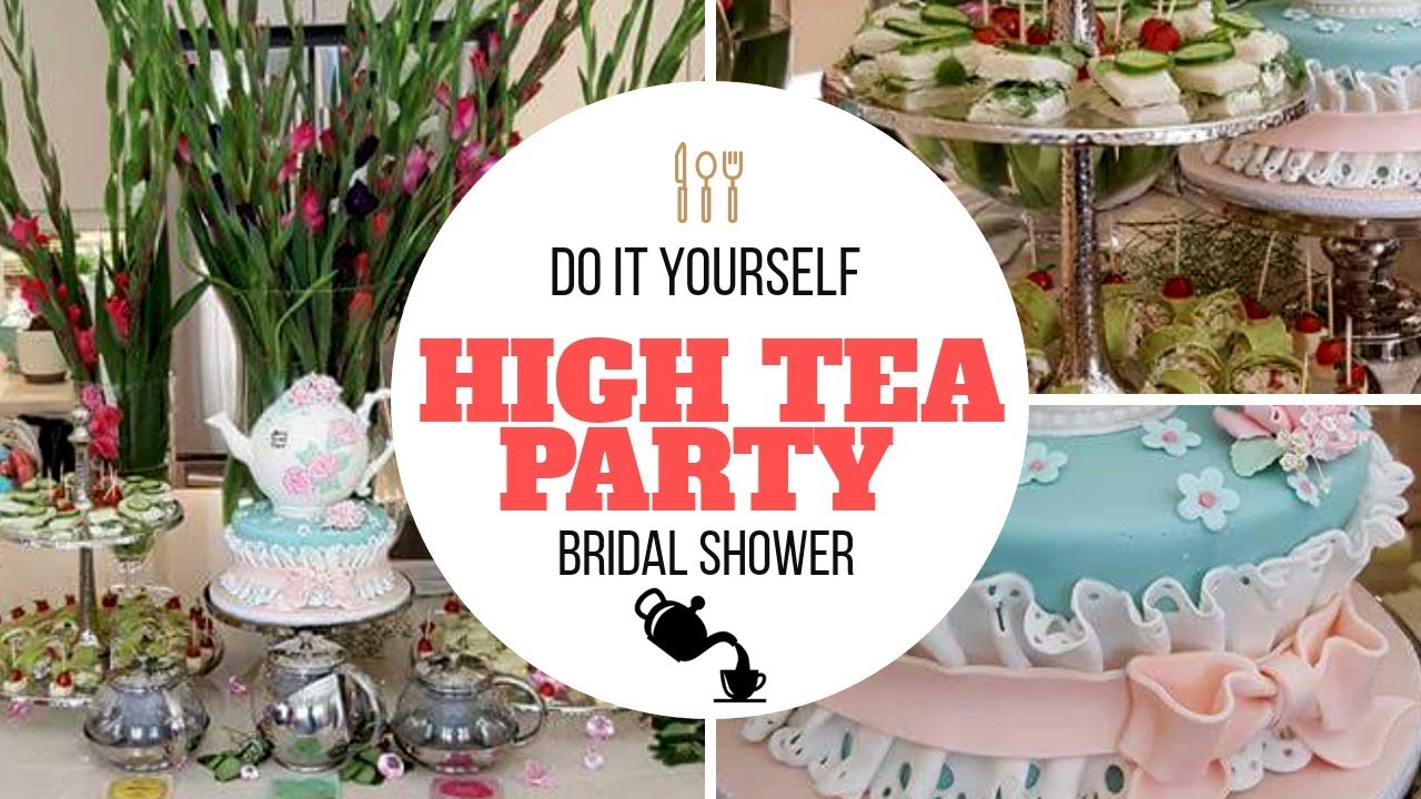 tea party decor themed bridal shower