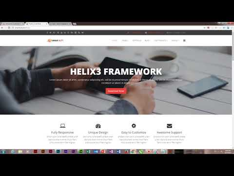 How To Change Top Header Background Color In Joomla Helix - Joomla Template Development
