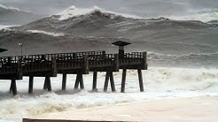 Jacksonville Beach Pier Pummeled by Hurricane Irma