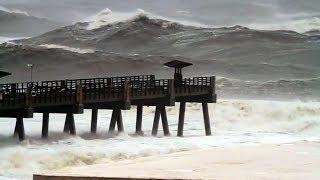 Jacksonville Beach Pier Pummeled by Hurricane Irma