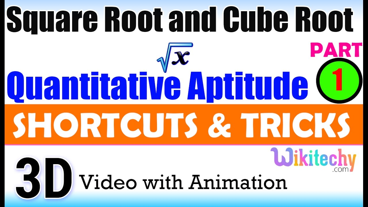 Square Root and Cube Root 1 Aptitude interview questions papers ...